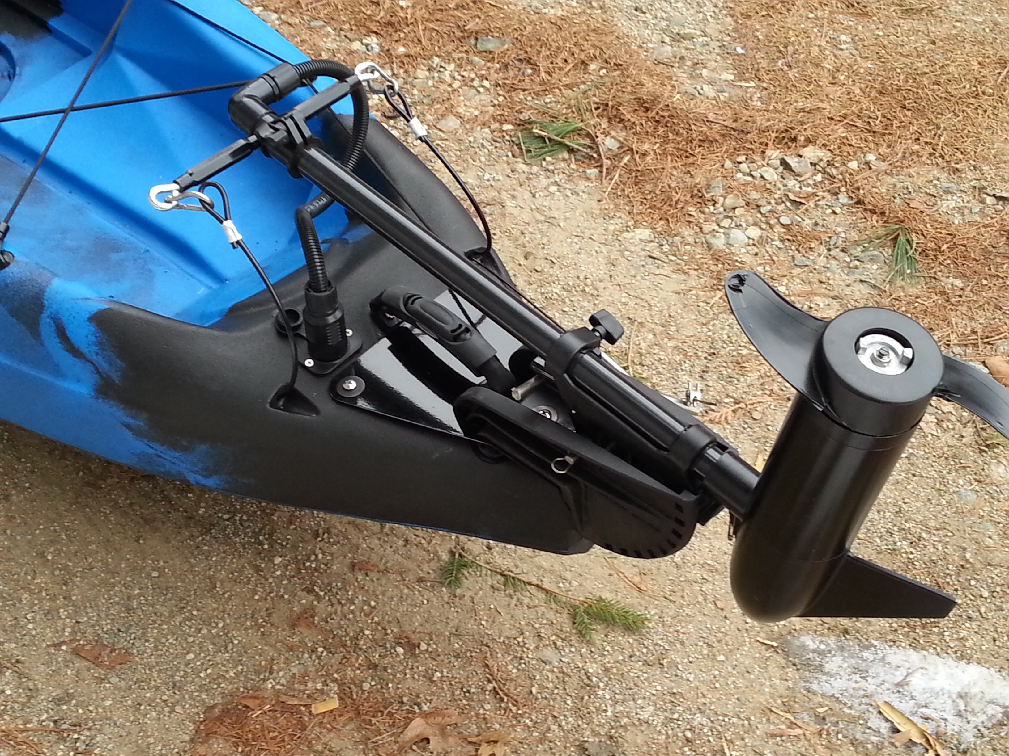 Diy trolling motor kayak diy do it your self for Fishing kayak with trolling motor
